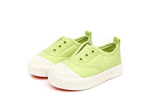 ALUK- Baby Schuhe - Kinder Leinwand Schuhe Lernen Lazy Schuhe Casual Schuhe ( Farbe : Weiß , größe : 21 ) Fruit green