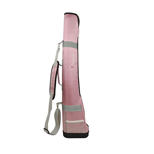 Half Golf Club Bag - Golf Travel Canvas Bag Leichte Driving Range Carrier Praxistasche für Herren, Damen, Kinder rosa
