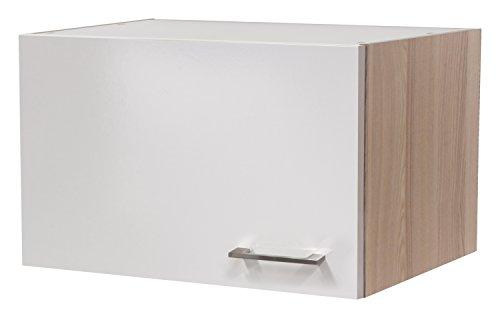Flex-Well 00007143 Kurz-Oberschrank Abaco Perlmutt glänzend, Akazie 60 x 32 x 32 cm