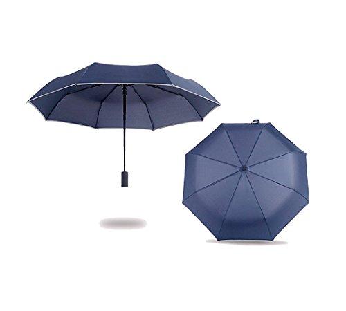 Xiaoyu ombrello a torcia elettrica a LED, ombrello da viaggio compatto, apertura automatica e chiusura, manico a 180 gradi - azzurro navy