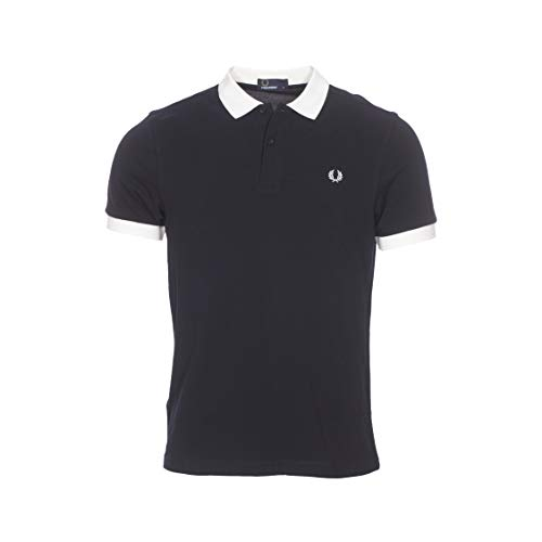 Fred Perry Hommes Color Block Polo Shirt m5571 608 Marine XL