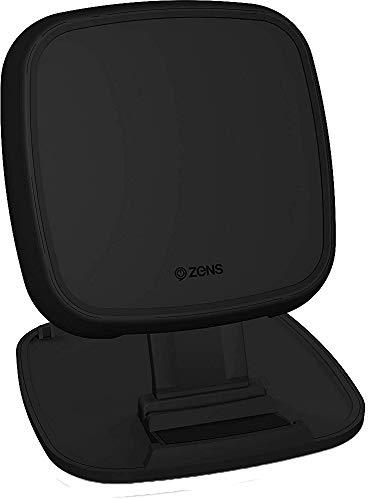 ZENS Qi-zertifiziertes kabelloses Schnelllade-Pad/Ständer 10W Schwarz, Konvertibles Design, Unterstützt Fast Wireless Charging mit bis zu 10 Watt - Funktioniert mit allen Qi-fähigen Geräten (Lg Wireless Dock Charger G3)