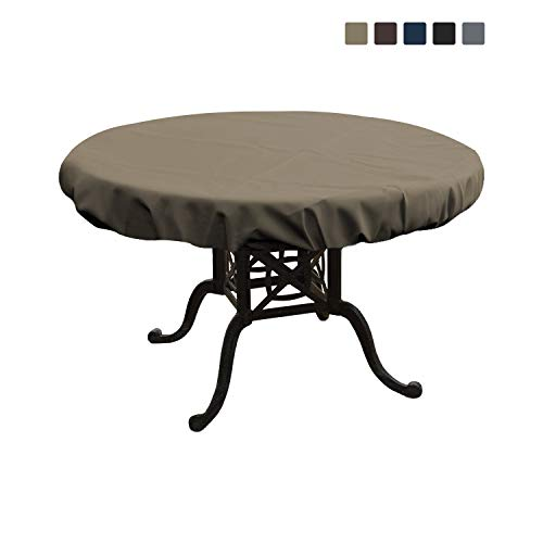 4in Heavy Duty Air (Round Table Top Cover 12 Oz - Customize Your Cover with Any Size - 100% UV & Weather Resistant Outdoor Table Cover with Air Pocket and Elastic for Snug Fit (60