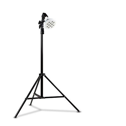 eSmart Germany Pflanzenlampe | LED Pflanzenlicht | Pflanzenleuchte | Wachstumslampe für • Hauspflanzen • Wasserpflanzen | (Leila 12 W + Stativ)