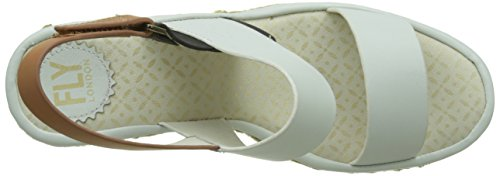 Fly London Ekan967fly, Heels Sandals Donna Bianco (offwhite/tan/black 002)