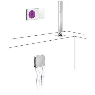 Drei griferia–Kit E-Badewanne Thermostat Shower Thermostatisches Technology · Zentrale Elektronische inklusive (2Wege). · Ablaufgarnitur Badewanne und Füllventil Wasserfall mit Überlauf rechteckig 1.34.534.40). · Siphon PVC Badewanne (1.34.634.60). · Dusche vereint (09286571)