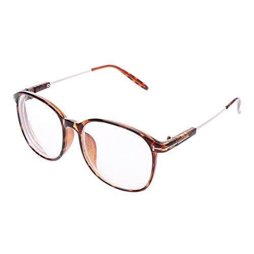 Bogji - Ultra-light Finished Myopia Glasses Men Women Frame Nearsighted Eyeglasses -1.0-1.5 -2.0-2.5 -3.0-3.5 -4.0-5.0 -5.5-6.0 (100, Light Purple)