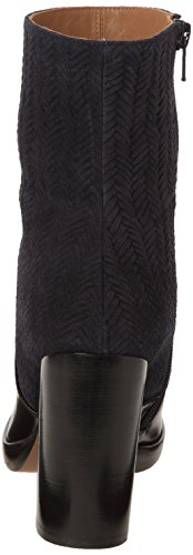 Castañer - CAMILLE / box leather woven suede, Stivali da Donna Multicolore (Multicolore (Black Woven Suede Navy))
