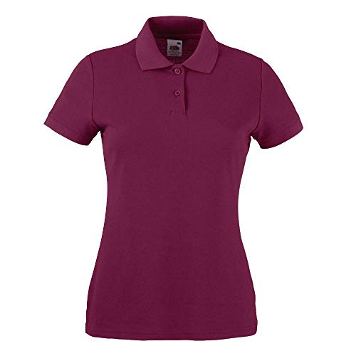 Fruit of the Loom - Lady-Fit Poloshirt Mischgewebe '65/35 Polo' Large,Burgundy