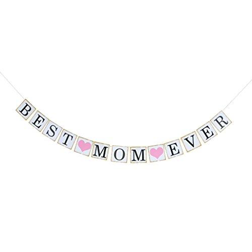 (MagiDeal Papier Girlande Banner Muttertag Girlande Dekoration Muttertag Party - BEST MOM EVER)