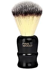 Pink Woolf Synthetic Shaving Brush (Black Handle)