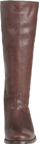 Frye Mellissa Button Back Zip, Bottes femme Dark Brown Antique Soft Full Grain-76430