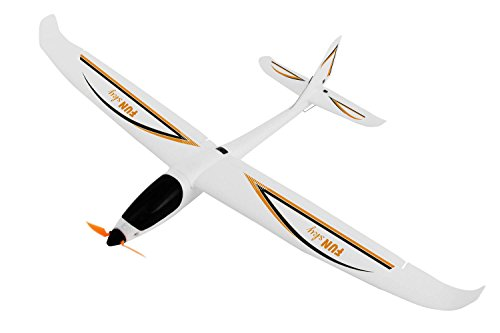*XciteRC 21501000 – Ferngesteuertes Flugzeug, FunSky 4-Kanal RTF Motorsegler, orange*