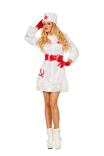 ostüm Russin Damen Russian Russin Kostüm Nikita Sexy Russin Karneval Zarin Damen-Kostüm Größe 40 (Russische Kleider)