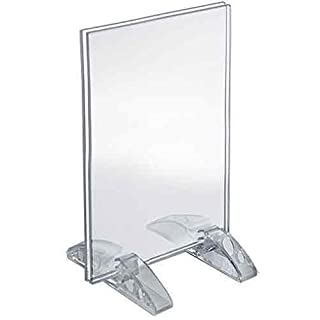 Azar Displays 132729 4-Inch by 5-Inch Vertical or Horizontal Dual Stand Acrylic Sign Holder, 10-Pack by Azar Displays