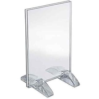 Azar Displays 132706 Doppelständer, vertikal oder horizontal, 21,6 x 35,6 cm, 132729