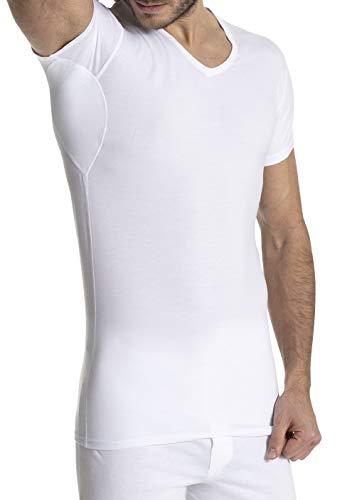 FINN Herren Business Unterhemd mit Einsätzen Gegen Schweiß Weiß M