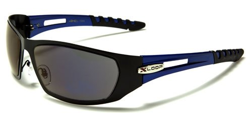 X-Loop ® Mens Sport Sunglasses - Deluxe Metal Version (Professional Edition) Golf / Sports / Fashion Sunglasses (Includes Case) (Blue) …