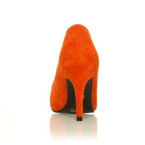 Pearl Orange Kunstwildleder Stiletto Pumps mit klassischem Absatz Orange Wildleder