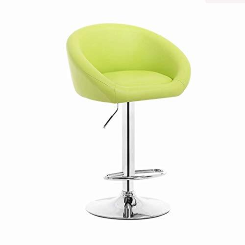 Rezeption Sitzgelegenheiten (YIJIAN Barhocker Rückenlehne Drehstuhl Barhocker Rezeption Hochstuhl Praktisch/Grün)