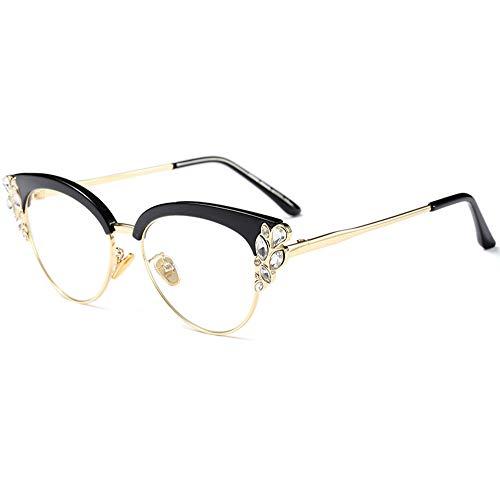 Donne occhio di gatto occhiali marca designer di diamanti moda occhiali di protezione uv400