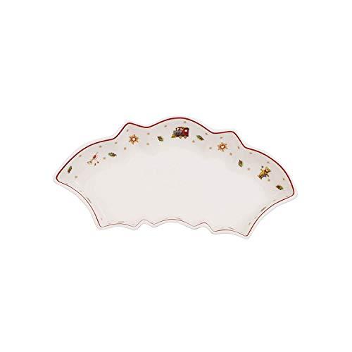 Villeroy & Boch Toy's Delight Coupelle incurvée, Porcelaine Premium, Blanc/Rouge