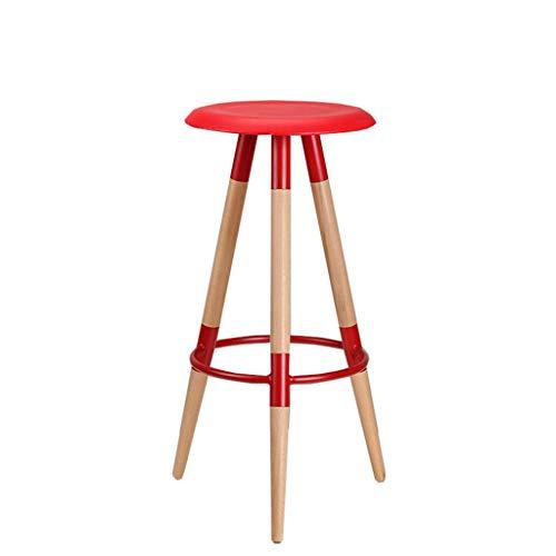 Oase Möbel (Muss eine Oase sein Massivholz Barhocker Barhocker Barhocker Barhocker Bank hoher Hocker hoher Barhocker (Color : Red))