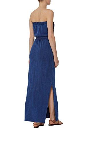 next Robe longue imprimée avec ceinture Petite Femme Bleu