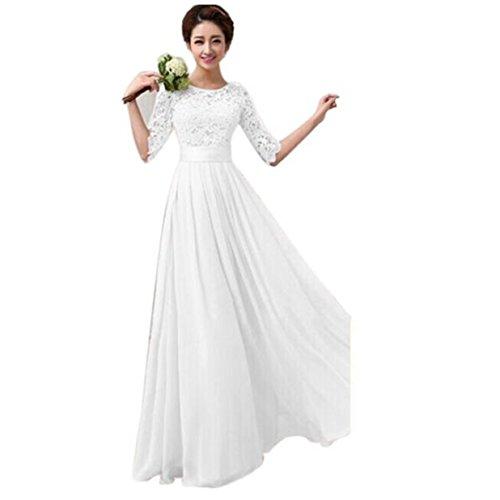 Elecenty Abendkleid Sommerkleid Damen,Prinzessin Kleid Reizvolle Rundhals Frauen Freizeitkleidung...