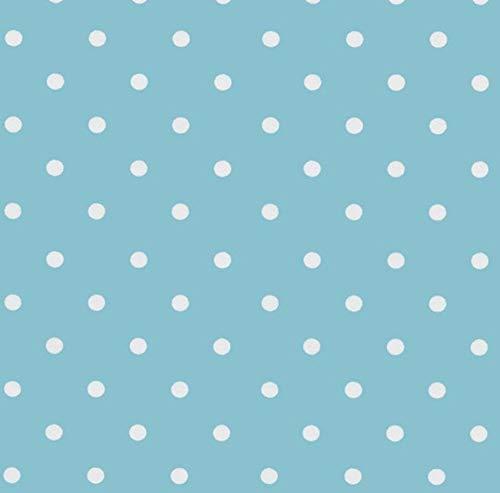 Klebefolie - Möbelfolie Blau Punkte - Dots 0,45 m x 2 m Selbstklebefolie Retro gepunktet - Bastelfolie