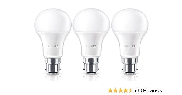 6 Pack Philips 9W B22 LED Bulbs Globe Frosted 806lm 2700k Warm White
