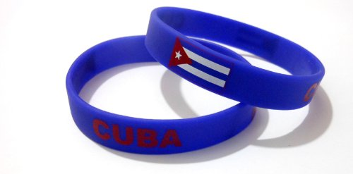 AccessCube Multicolor Land Flagge Unisex Silikon Armband Gummi Sport Fashion Armband Manschette 20,3cm 20,2cm, Damen, Kuba