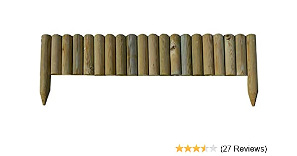 Gartenpirat Steckzaun 100 Cm Zaunhohe 20 Cm Aus Holz Fur