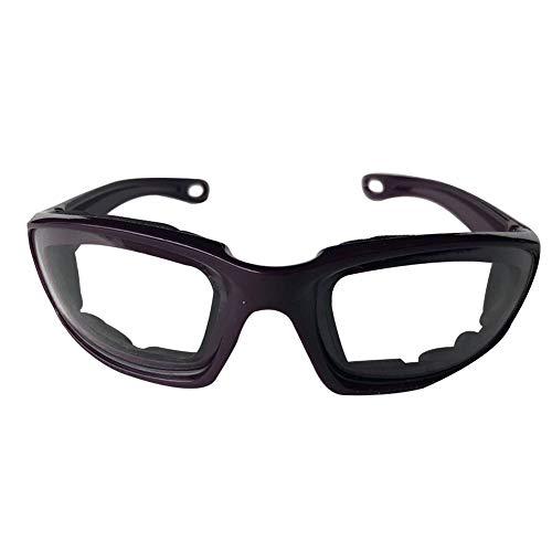 Edwiin Zwiebel Schutzbrille Tränenfreies Schneiden von Augen schützende Brille, Küche Zubehör Schutzbrille Protector für Zwiebel schneiden (Lila) 14.2 * 4.2 * 12.2cm