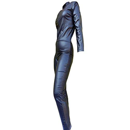 Body Overall Jumpsuit schwarz Catsuit Damen Anzug Po Schritt Bein Reißverschluss Renas Dreams CAT 999 WBZ