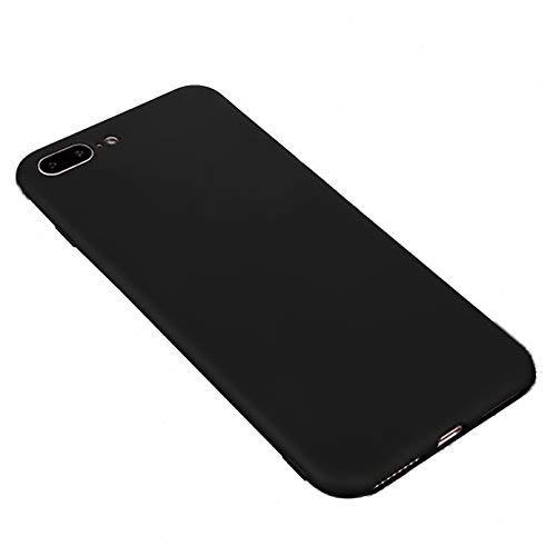 iBarbe Hülle für iPhone 7Give, iPhone 8Increased by (5,5 Zoll), aus TPU, schützende Stoßfängerabdeckung mit ultradünner und robuster Passform, kratzfest, Silikonhülle, schwarz, 4336648406, 1-Her pep a get come-coloured, charger extension foreign