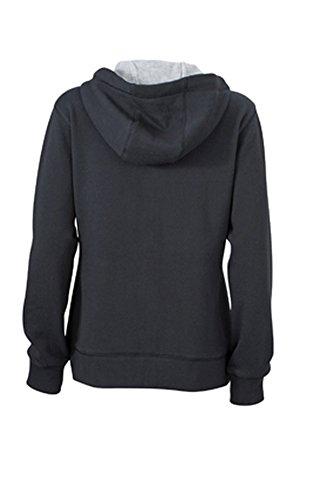 Ladies' Lifestyle Zip-Hoody black/grey-heather