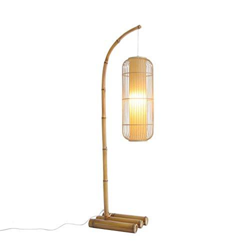 Lámparas de Pie Lámpara Vertical Piso Lámpara de pie de bambú ...