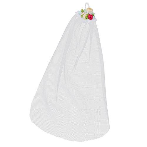 Toy Kostüm Story Günstige - MagiDeal Elegante Puppe Hochzeit Brautschleier Weiße Schleier Für 12'' Puppe Brautkleid Zubehör - # 2