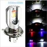 #8: Autofier H4 HID 6000K White COB LED Hi/Lo Beam For Piaggio Vespa S