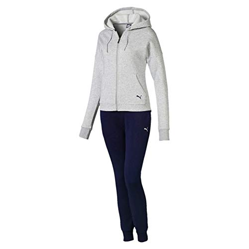 Puma Damen Clean Sweat Suit CL Trainingsanzug, Light Gray Heather, M