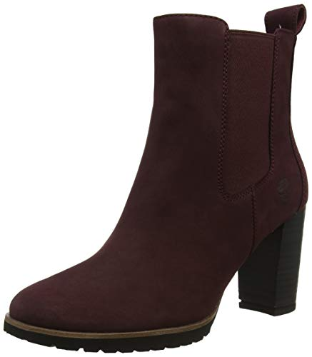 Timberland Damen Leslie Anne Chelsea Boots, Rot (Dark Port Nubuck C60), 38 EU (Boot-rot Timberland Damen)