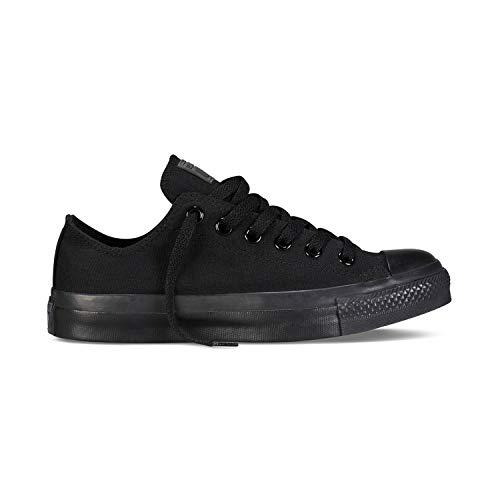 Converse Chuck Taylor All Star Classic CTAS Damen Herren Unisex Canvas Sneaker Sportschuhe mit Cultz Aufkleber Schwarz 40