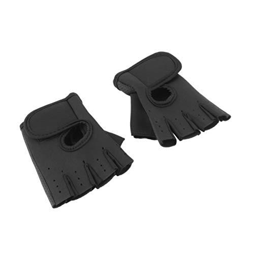 Monllack Halbe Finger-Trainingshandschuhe Langlebige Sport-Handschuhe Gewichtheben-Handschuhe für Männer Frauen Übung Training Radfahren Mitts