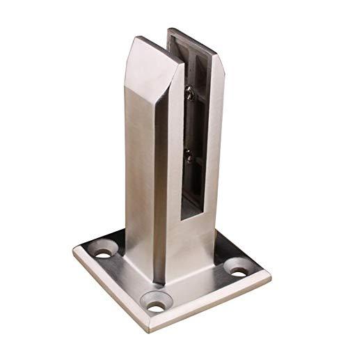 Yxp Pince À Verre Pince À Verre en Acier Inoxydable pour Garde-Corps D'escalier Support Plat Arrière Réglable en Verre pour Accoudoirs pour Rail Fixe en Aluminium,Argent