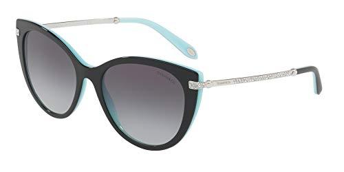 Tiffany & co. 0ty4143b 80553c 55 occhiali da sole, nero (black/blue/graygradient), donna