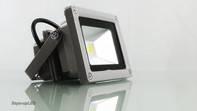 LED Fluter, Gartenlicht, Wandleuchte, Strahler, 1000 Lumen, 10 Watt, IP66 / Tageslicht weiß / 4000Kelvin, Edison LEDs / 5 Jahre Herstellergarantie