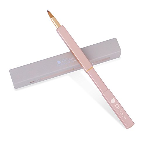 DUcare Lippenpinsel Einziehbar Tragbar Vegan Lippenstift Gloss Applikatoren Professionel Lipstick...