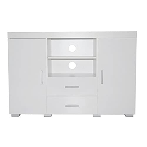 office sideboards. High Gloss Sideboard Cabinet Storage Unit | Cupboard, Drawers, Open Shelves, Black Or White (White) Office Sideboards (