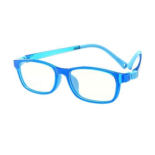 Deylaying Lightweight Kinder Kids Gläser - Blue Light Filter Anti Müdigkeit Glasses Computer Spiel Eyeglasses Students Reading Books Classic Brille (Königsblau Rahmen)
